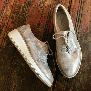 NWT CLARKS Collection Sharon Crystal Wedge Oxfords